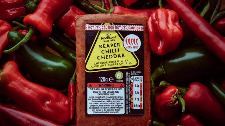 Morrisons release 'extreme heat' cheese made from chilli 300 times hotter than Jalapeños