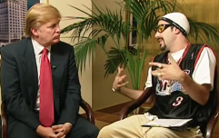 It looks like Sacha Baron Cohen is making a project about Donald Trump