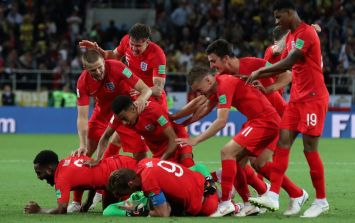 Jesse Lingard was next in line to take a penalty for England against Cololmbia