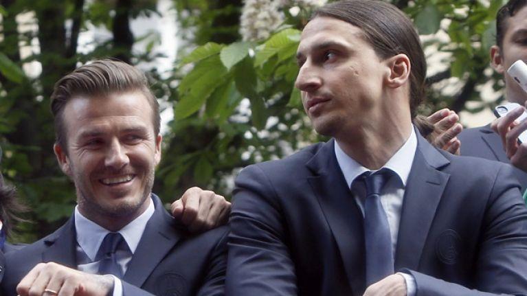 David Beckham has accepted Zlatan Ibrahimovic's friendly bet