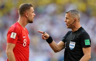 Concerned England fans are making the same joke about the referee against Sweden