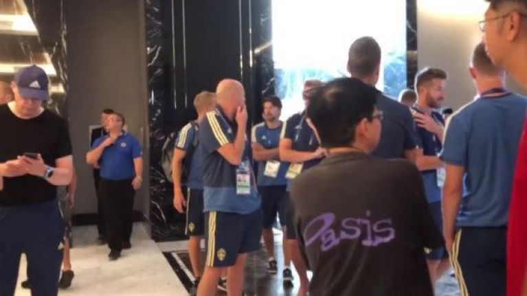 Sweden players turfed out of team hotel by early morning fire alarm
