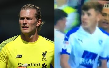 Tranmere player appeared to insult Loris Karius after howler in pre-season game