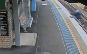 Drunk man is miraculously saved from oncoming train after he fell onto the tracks