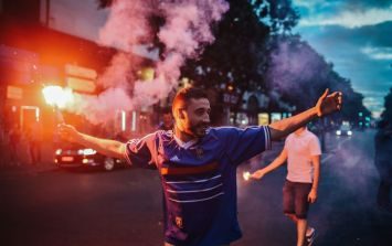 French fans give England a run for their money in absolute scenes across Paris