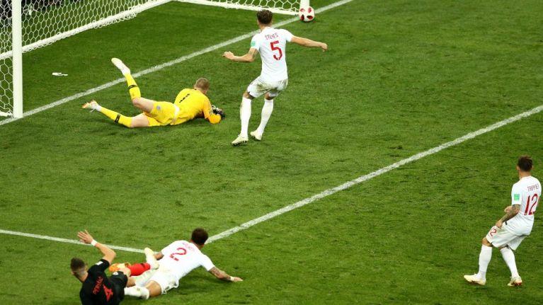 Jordan Pickford's face when Croatia hit the post says it all