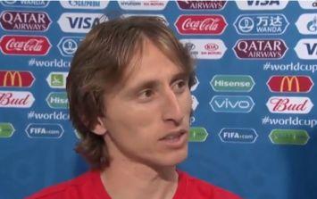 Luka Modric stuck it to the English press after Croatia victory