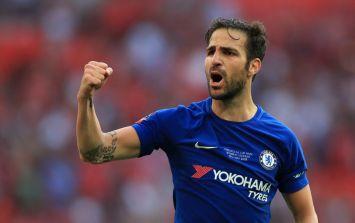 Cesc Fabregas 'accidentally' celebrates Antonio Conte's Chelsea dismissal