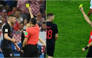 Some England fans are convinced that Croatia star was booked twice in semi-final