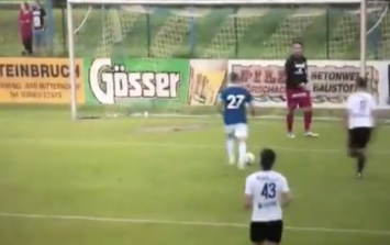 WATCH: Austrian goalkeeper gives up mid-game as Everton complete 22 goal rout