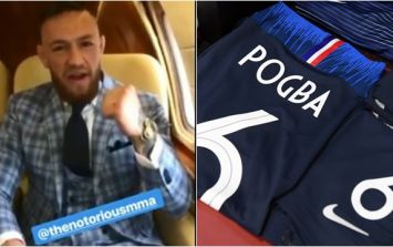 Conor McGregor sends Paul Pogba message ahead of World Cup final