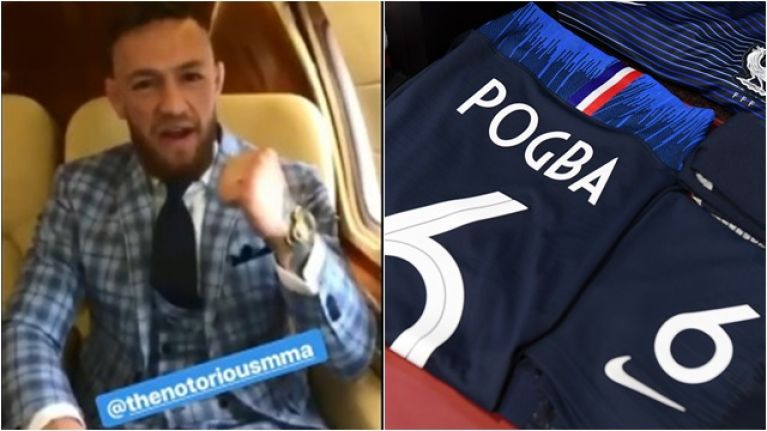 Conor McGregor sends Paul Pogba message ahead of World Cup final