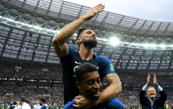 Olivier Giroud has won the World Cup without having a single shot on target