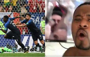 Patrice Evra had the most passionate reaction to Paul Pogba's goal