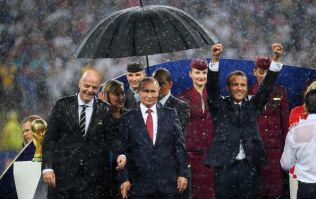 People spotted something hilarious during the World Cup final rain storm