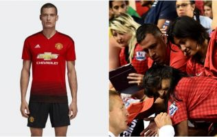 Everybody is saying the same thing about the guy modelling Man United's new kit