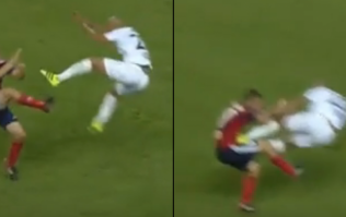 THROWBACK: Footballer sent off for WWE-style drop-kick in Champions League tie