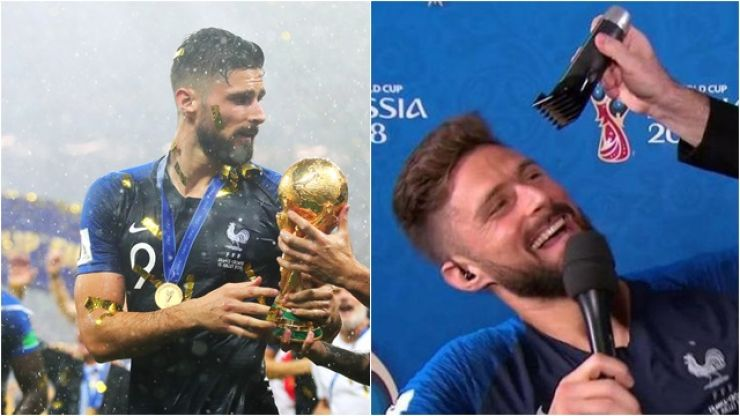 Olivier Giroud stays true to hair promise after winning the World Cup