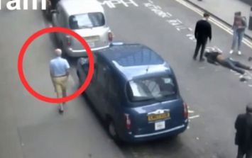 Black cab driver drags unconscious man into the road and leaves him there