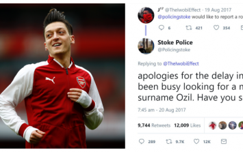 Mesut Özil fires back at Stoke Police #banter tweet