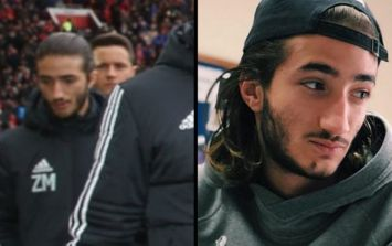 Jose Mourinho's son was in the United dugout wearing coaching kit on Saturday