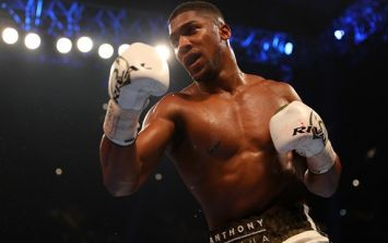 Anthony Joshua's celebration was the talk of social media after unanimous decision win