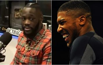 Anthony Joshua references Deontay Wilder's disgusting remarks in post-fight press conference