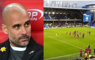 Pep Guardiola jokes Everton fans' full-time reaction to his team was prompted by Liverpool clash