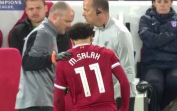 Liverpool fans sent into panic mode as Mohamed Salah limps off with groin injury