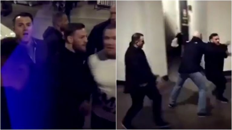 Dramatic footage emerges from inside the bus attacked by Conor McGregor