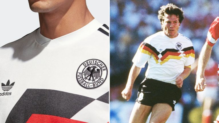 24133f34d Adidas  brand new Germany World Cup shirt is a classy reproduction of the 1990  classic