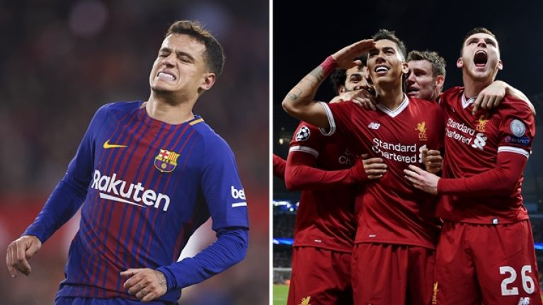 Liverpool fans stick it to Philippe Coutinho after Barcelona exit Champions League