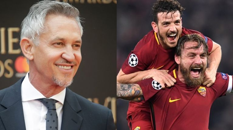 Gary Lineker sums up the madness of Roma beating Barcelona with one brilliant tweet