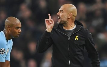 Pep Guardiola's version of what he said to the referee at half-time seems far too polite