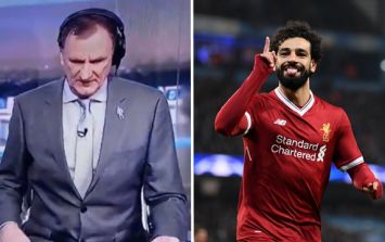 Phil Thompson's reaction to Mohamed Salah's goal annoyed some people
