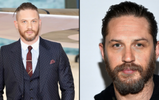 Tom Hardy has shaved his head bald and looks like an angry Harry Hill