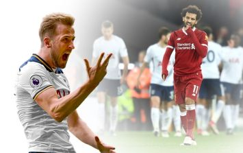 Mo Salah and teammates in disbelief after Harry Kane is awarded dubious goal