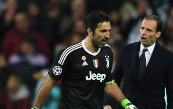 Reaction of Real Madrid fans as Buffon left the pitch was quite something