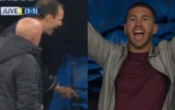 Juventus boss Max Allegri reveals what he said to Sergio Ramos during penalty chaos