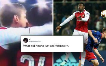 Nacho Monreal's congratulation to Danny Welbeck has raised some fans' eyebrows