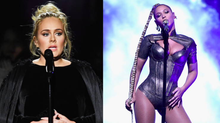 Adele watching Beyoncé's Coachella performance is giving us life