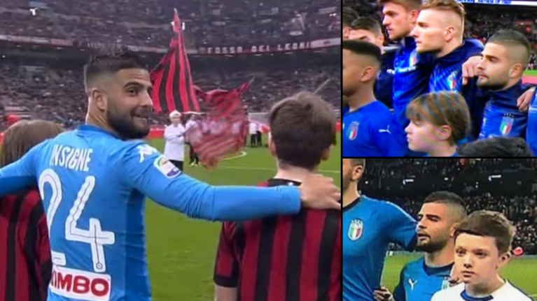 Napoli's Lorenzo Insigne keeps being paired with tall mascots and it's pretty damn funny