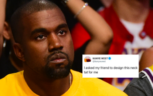 Turns out Kanye's designer neck tattoo is just a font copy and pasted off the internet