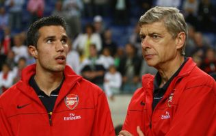Robin van Persie pays tribute to 'footballing father' Arsene Wenger