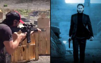 Keanu Reeves shooting practice footage is getting us very excited for John Wick 3