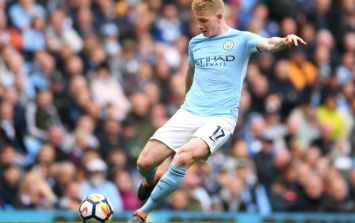 WATCH: Kevin de Bruyne scores incredible goal from long range in Man City celebration party