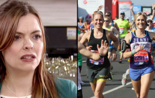 Tracy Barlow is a frontrunner for the London Marathon and everyone is making the same joke