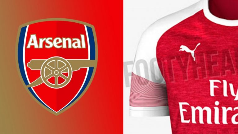 Pictures of Arsenal s 2018 19 home shirt have been leaked  054b13fce