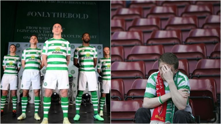 80816b517 Celtic supporters are furious about the sleeves on next season s home shirt