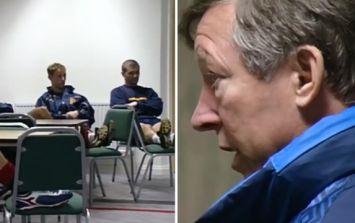 Brilliant footage shows Sir Alex Ferguson team talk before famous Arsenal game